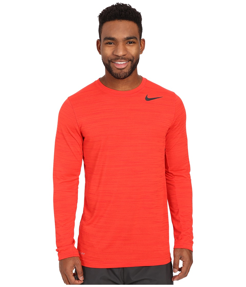 Nike - Dri-FIT Touch L/S (Light Crimson/University Red/Heather/Black) Men's T Shirt