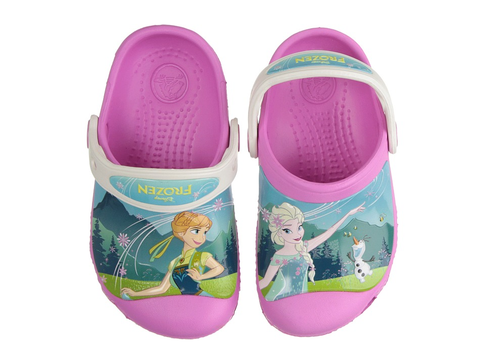 Crocs Kids - CC Frozen Fever Clog (Toddler/Little Kid) (Party Pink/Oyster) Girls Shoes