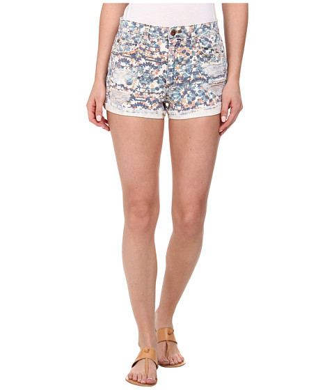 Joe's Jeans - Collector's Edition High Rise Rolled Shorts in Stained Mosaic Print (Stained Mosaic Print) Women's Shorts