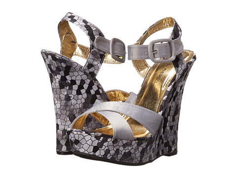 C Label - Nancy-1 (Grey/Grey) Women's Wedge Shoes