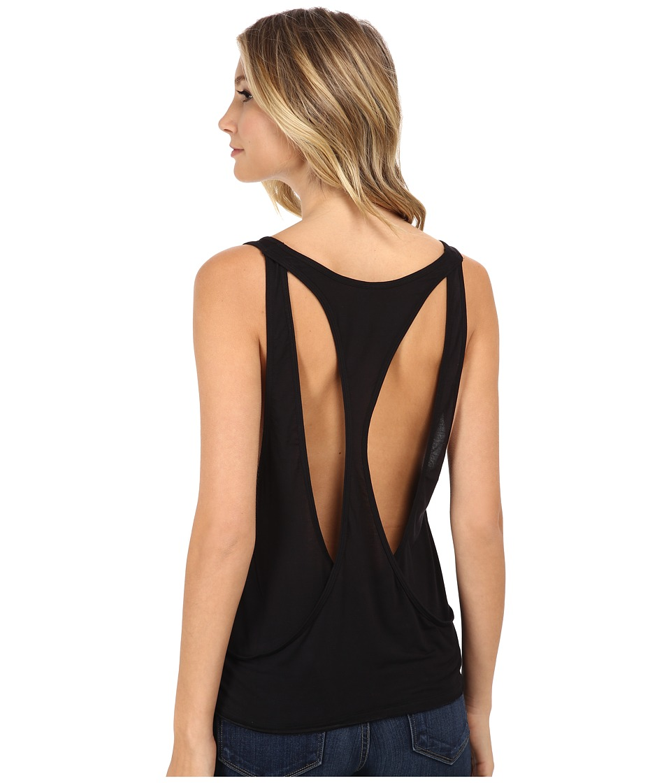 Joe's Jeans - Off Duty Cotton Modal Jersey Ami Tank Top (Black) Women's Sleeveless