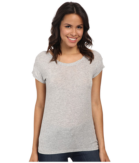Joe's Jeans - Off Duty Cotton Modal Jersey Meryem Tee (Heather) Women's T Shirt