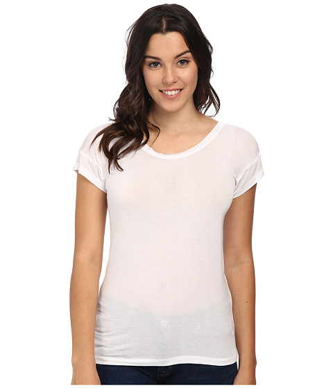 Joe's Jeans - Off Duty Cotton Modal Jersey Meryem Tee (White) Women's T Shirt