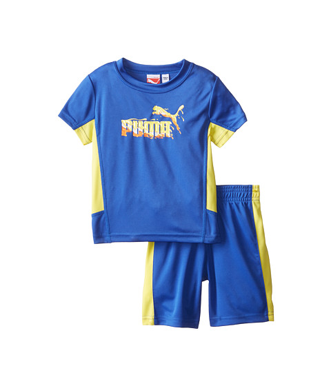 Puma Kids - Shorts Set (Infant) (Royal Blue) Boy's Active Sets