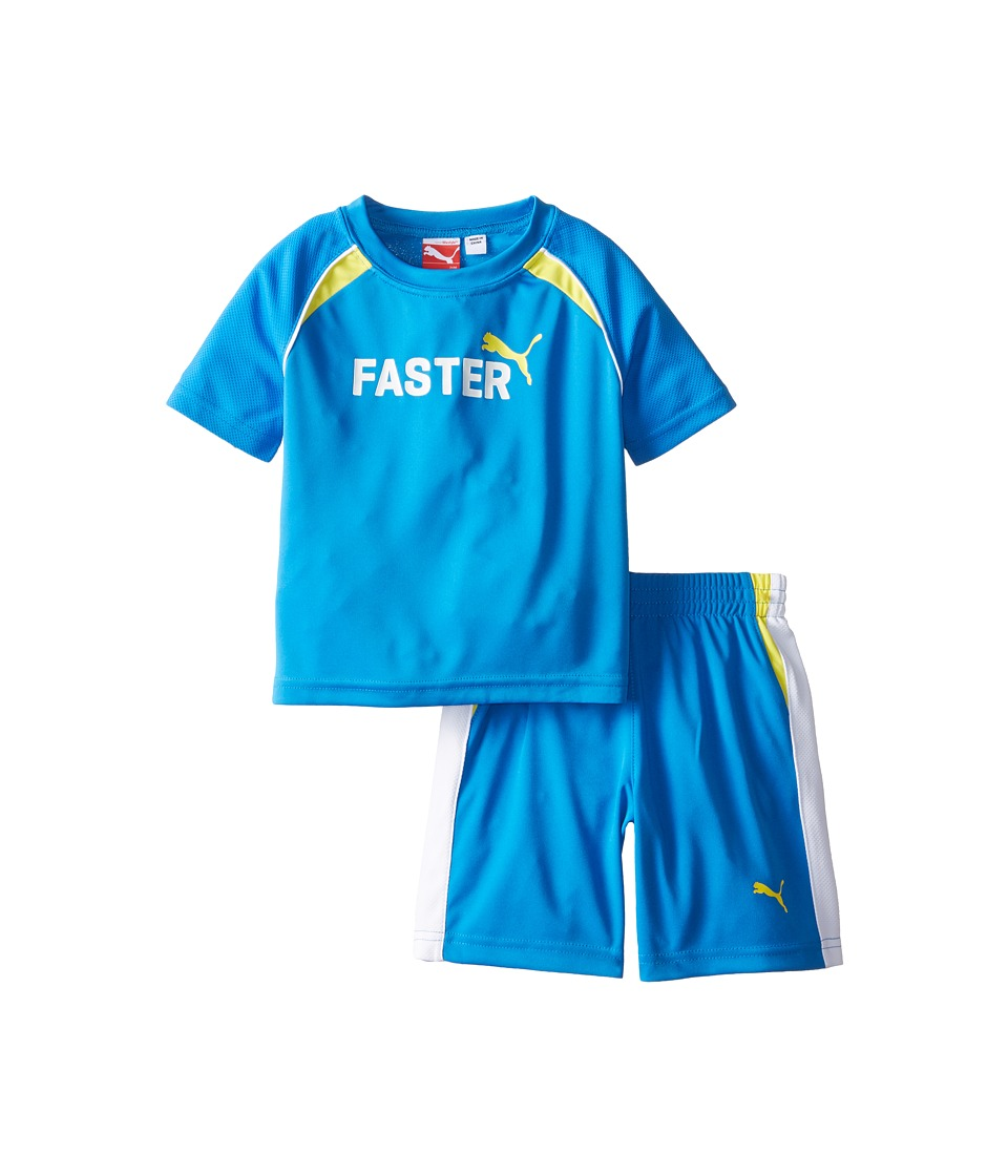 Puma Kids - Shorts Set (Infant) (Sky Blue) Boy's Active Sets