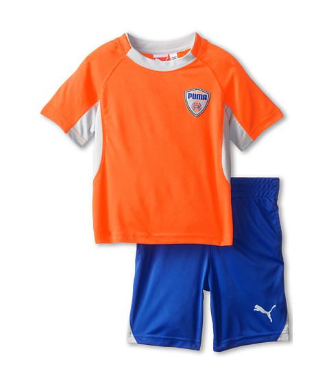 Puma Kids - Color Blocked Set (Toddler) (Fire Orange) Boy
