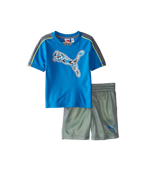 Puma Kids - Camo Set (Toddler) (Sky Blue) Boy's Active Sets