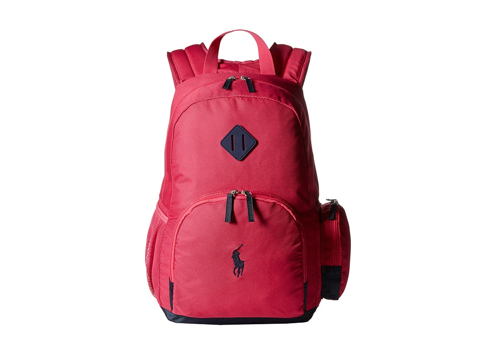 Polo Ralph Lauren Kids - Basic Youth Backpack (Fuchsia/Navy) Backpack Bags