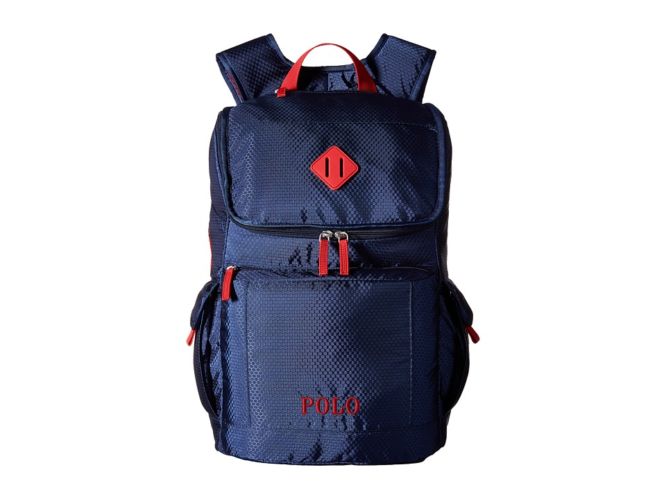 Polo Ralph Lauren Kids - Felixstow Backpack (Navy/Red Pop) Backpack Bags