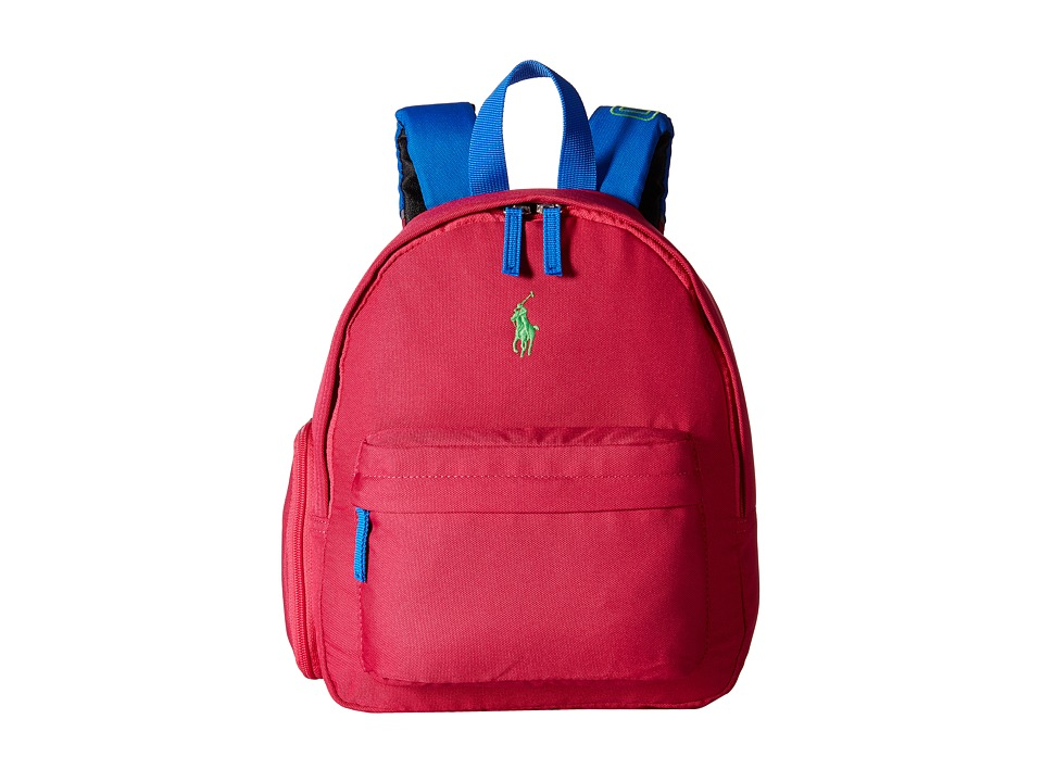 Polo Ralph Lauren Kids - East Hampton Backpack (Fuchsia/Navy/Lime Pop) Backpack Bags