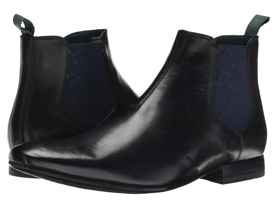 Ted Baker - Hourb (Black Leather) Men's Dress Pull-on Boots