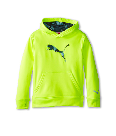 Puma Kids - Big Cat Hoodie (Little Kids) (Acid Yellow) Boy