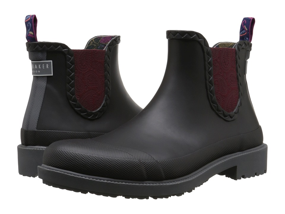 Ted Baker - Ephai (Black Rubber) Men's Pull-on Boots