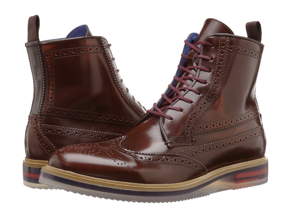 Ted Baker - Garthh (Brown Shine) Men's Lace-up Boots