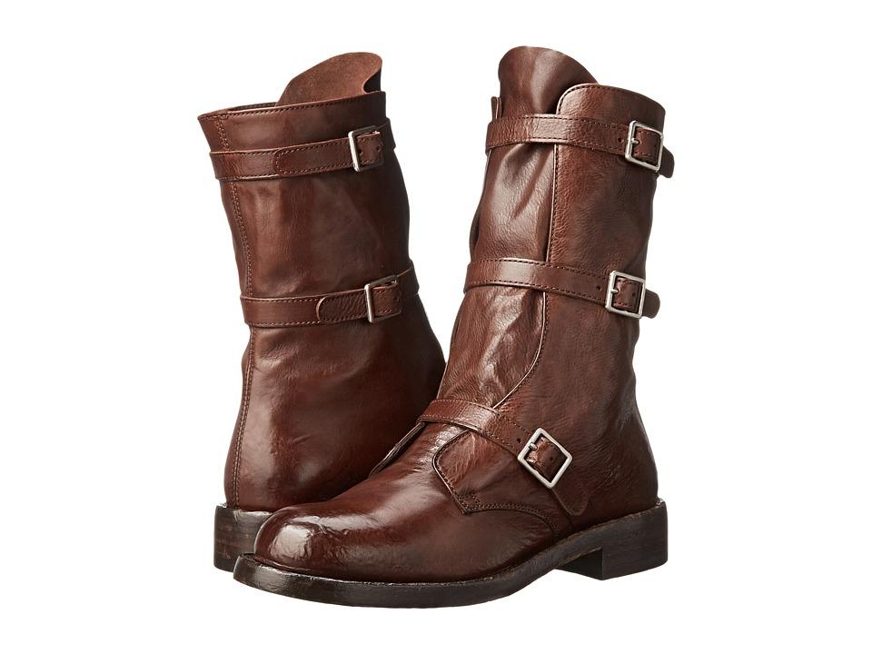 Alexander McQueen - Stiv. To Pelle S. Gomm (Chestnut) Women's Pull-on Boots