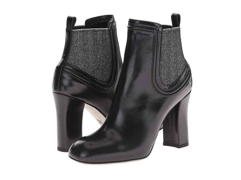 Alexander McQueen - Stivto Pelle S. Cuoio (Black/Black/Silver) Women's Pull-on Boots