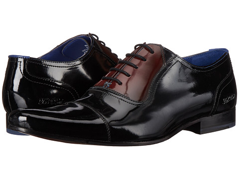 Ted Baker - Reidar (Black/Dark Red Shine) Men