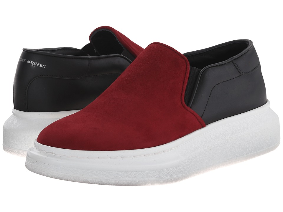 Alexander McQueen - Sneaker Pelle S. Gomm (Madder Red 153/Black) Women's Slip on Shoes