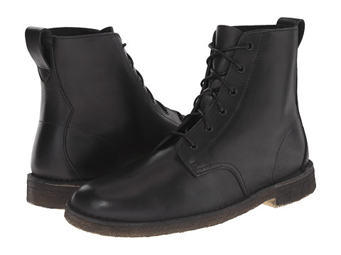Clarks - Desert Mali Boot (Black Leather 1) Men's Lace-up Boots