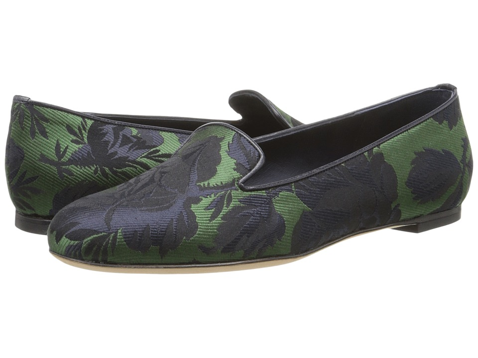 Alexander McQueen - Scarpa Tess. S. Cuoio (Fern/Navy/Navy) Women's Slip on Shoes