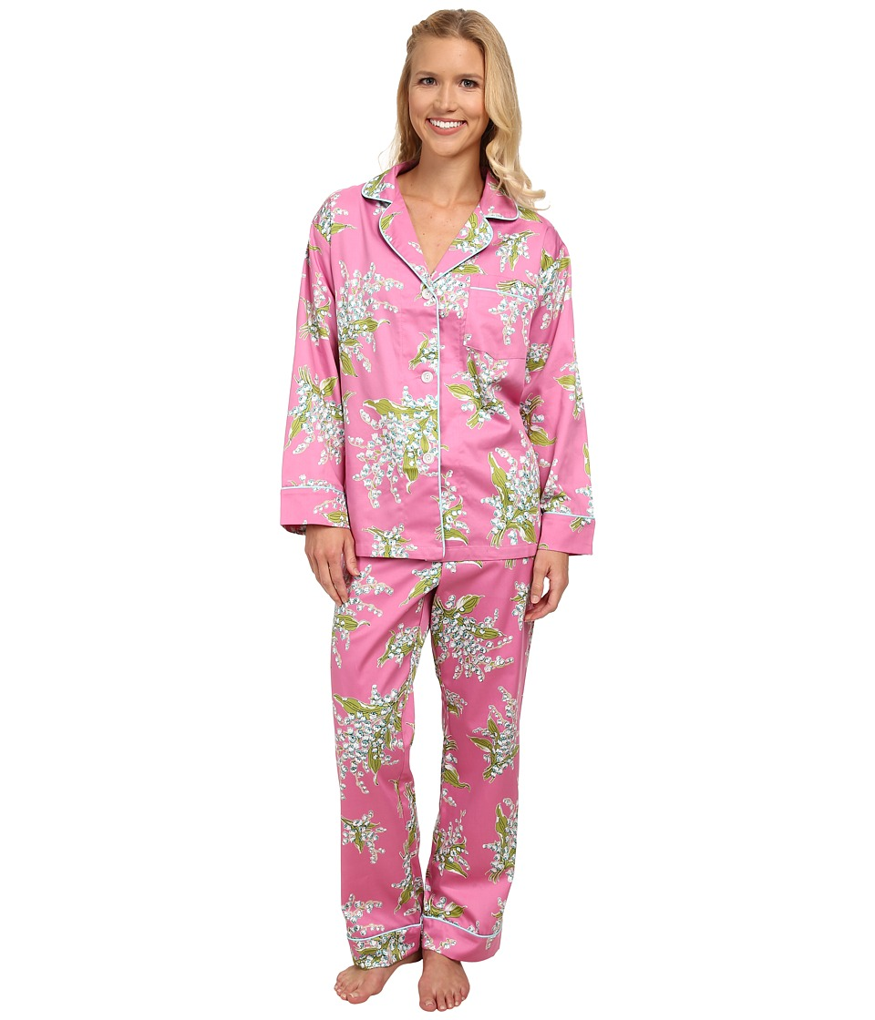 BedHead - Long Sleeve Classic PJ Set (Pink Lily of The Valley) Women