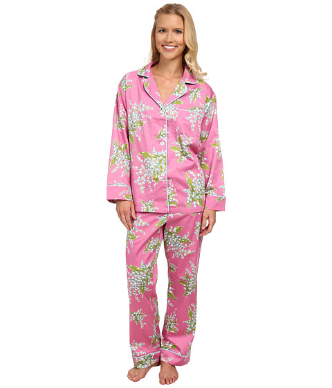 BedHead - Long Sleeve Classic PJ Set (Pink Lily of The Valley) Women's Pajama Sets