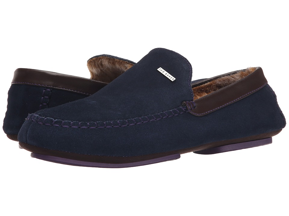 Ted Baker - Maddoxx (Dark Blue Suede) Men's Slip on Shoes
