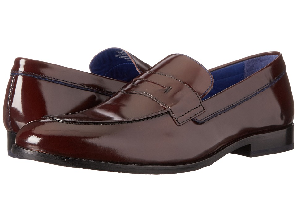 Ted Baker - Zephire (Dark Red Shine) Men's Slip-on Dress Shoes