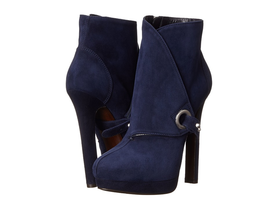 Alexander McQueen - Stivto Pelle S. Cuoio (Navy) Women's Boots