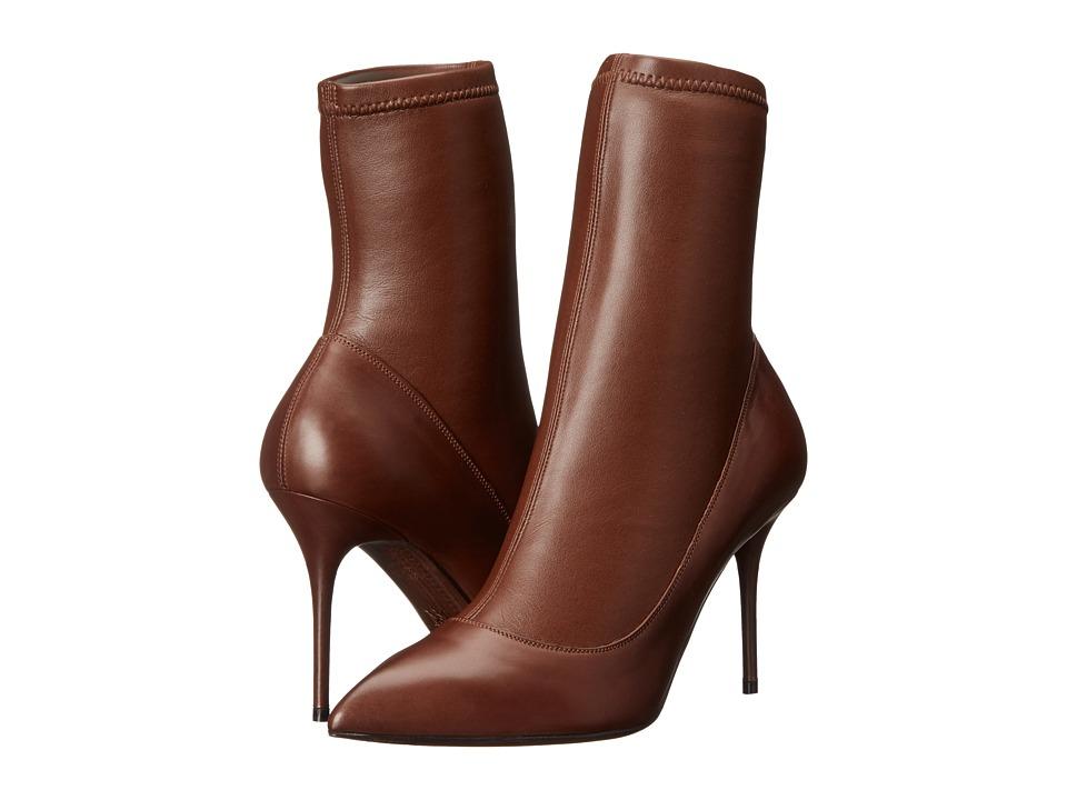 Alexander McQueen Scarpa Pelle S. Cuoio (Chestnut) High Heels