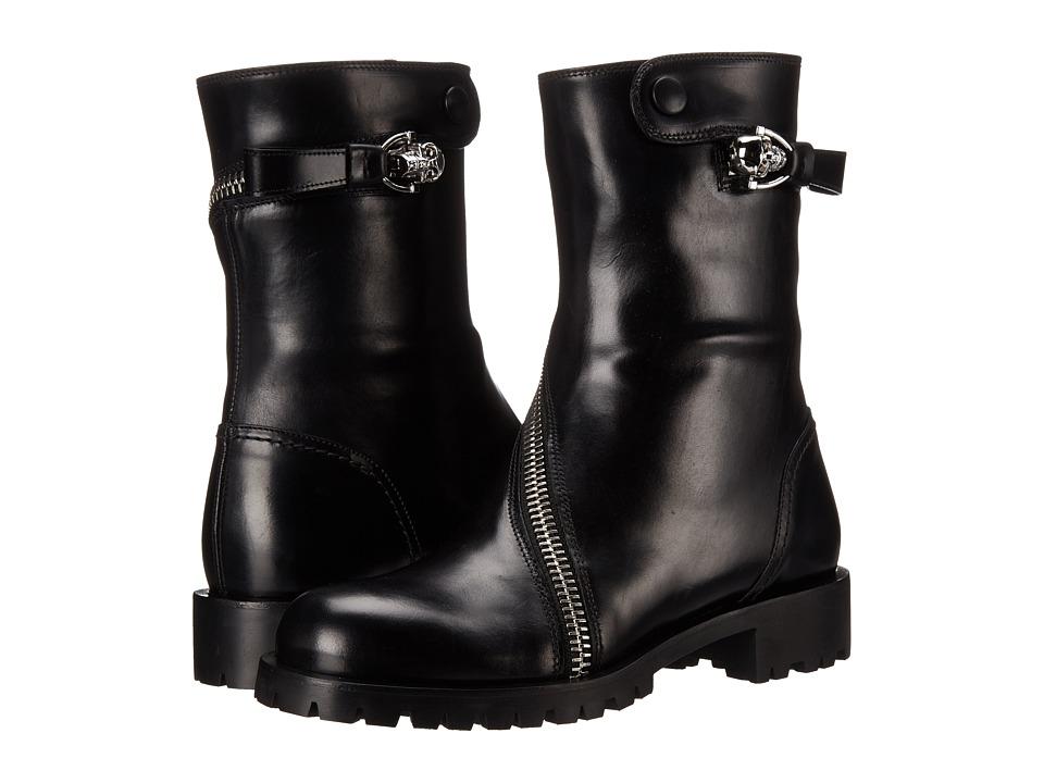 Alexander McQueen - Rider Calf Skull Zipper Boot (Black) Women
