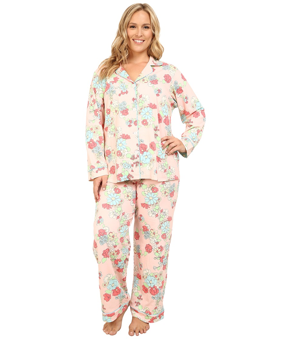 BedHead - Plus Size Long Sleeve Classic PJ Set (Le Jardin) Women's Pajama Sets