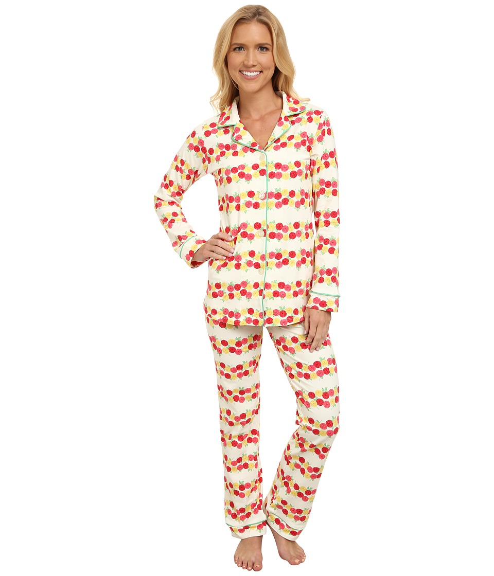 BedHead - Long Sleeve Classic PJ Set (Rows of Roses) Women's Pajama Sets