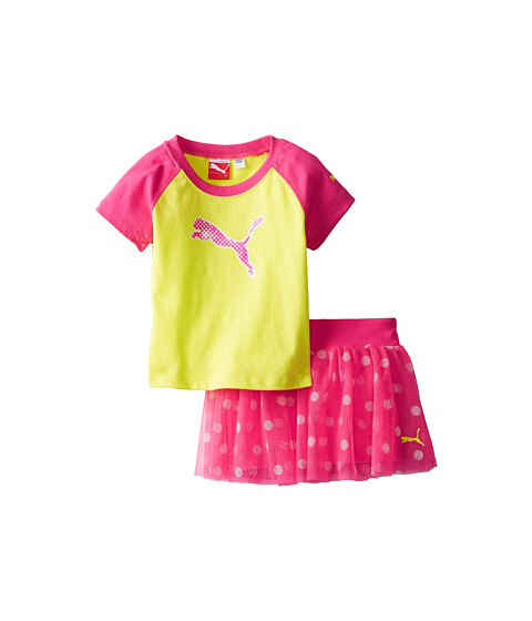Puma Kids - Raglan Top and Skort Set (Infant) (Lemon Tonic) Girl's Active Sets
