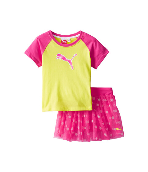 Puma Kids - Raglan Top and Skort Set (Toddler) (Lemon Tonic) Girl