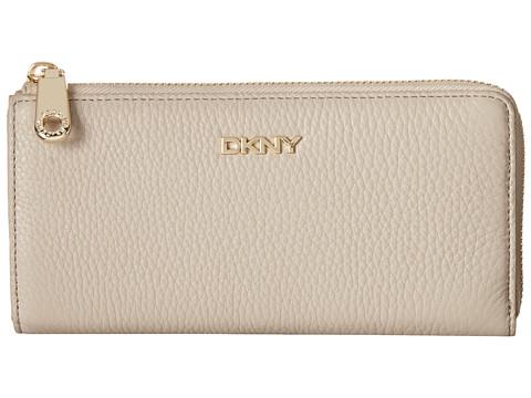 DKNY - SLGS - Tribeca Soft Large Half Zip Around (Cement) Handbags