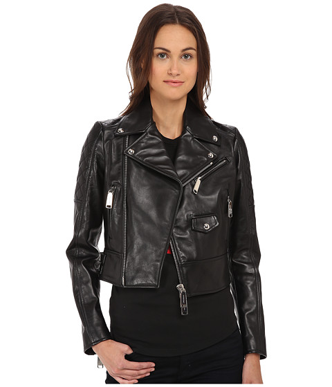 DSQUARED2 - Icon Kiodo Leather Jacket (Black) Women