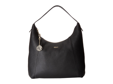DKNY - Tribeca - Soft Tumbled Large Hobo (Black) Hobo Handbags