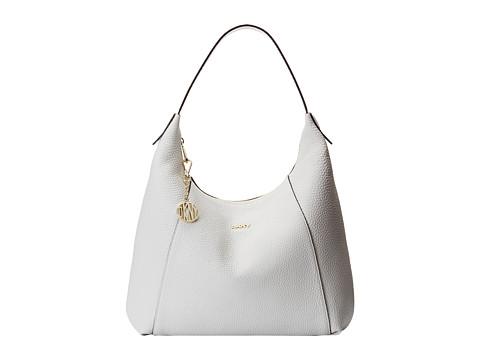 DKNY - Tribeca - Soft Tumbled Large Hobo (White) Hobo Handbags
