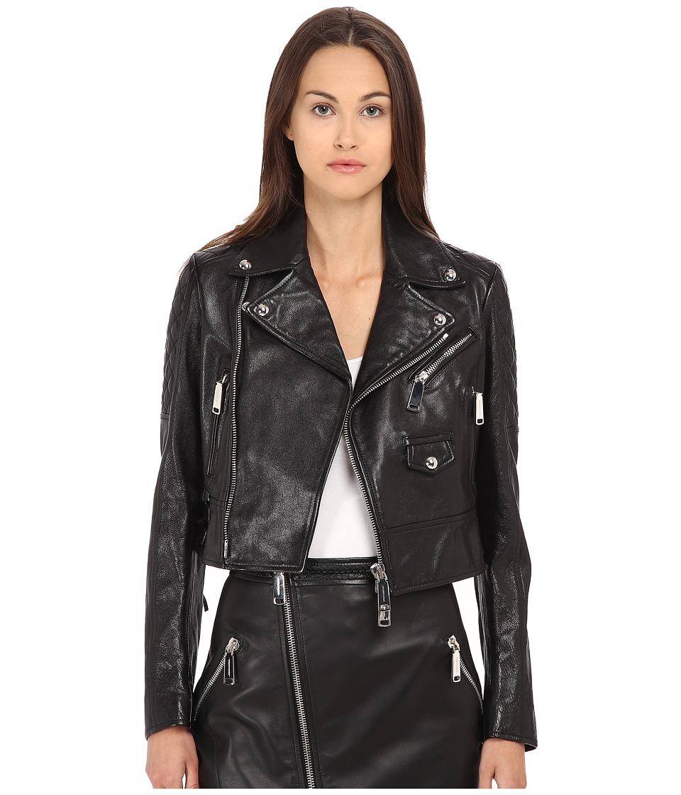 DSQUARED2 - Fender Leather Kiodo (Black) Women's Coat