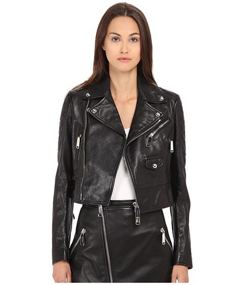 DSQUARED2 - Fender Leather Kiodo (Black) Women's Coat