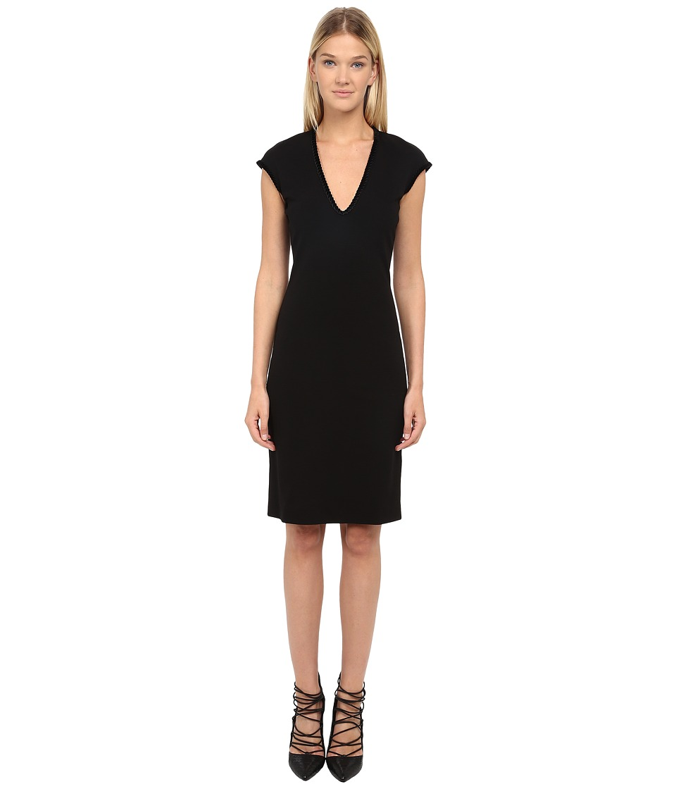 DSQUARED2 Wool Jersey Black Dress