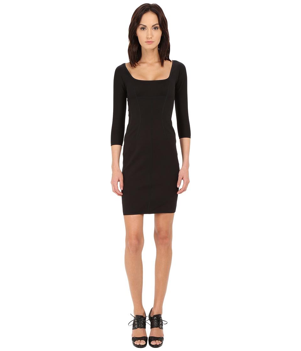 DSQUARED2 Compact Cotton Jersey Dress (Black) Women