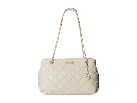 DKNY - Gansevoort - Quilted Shopper w/ Chain Handle (Cement) Handbags