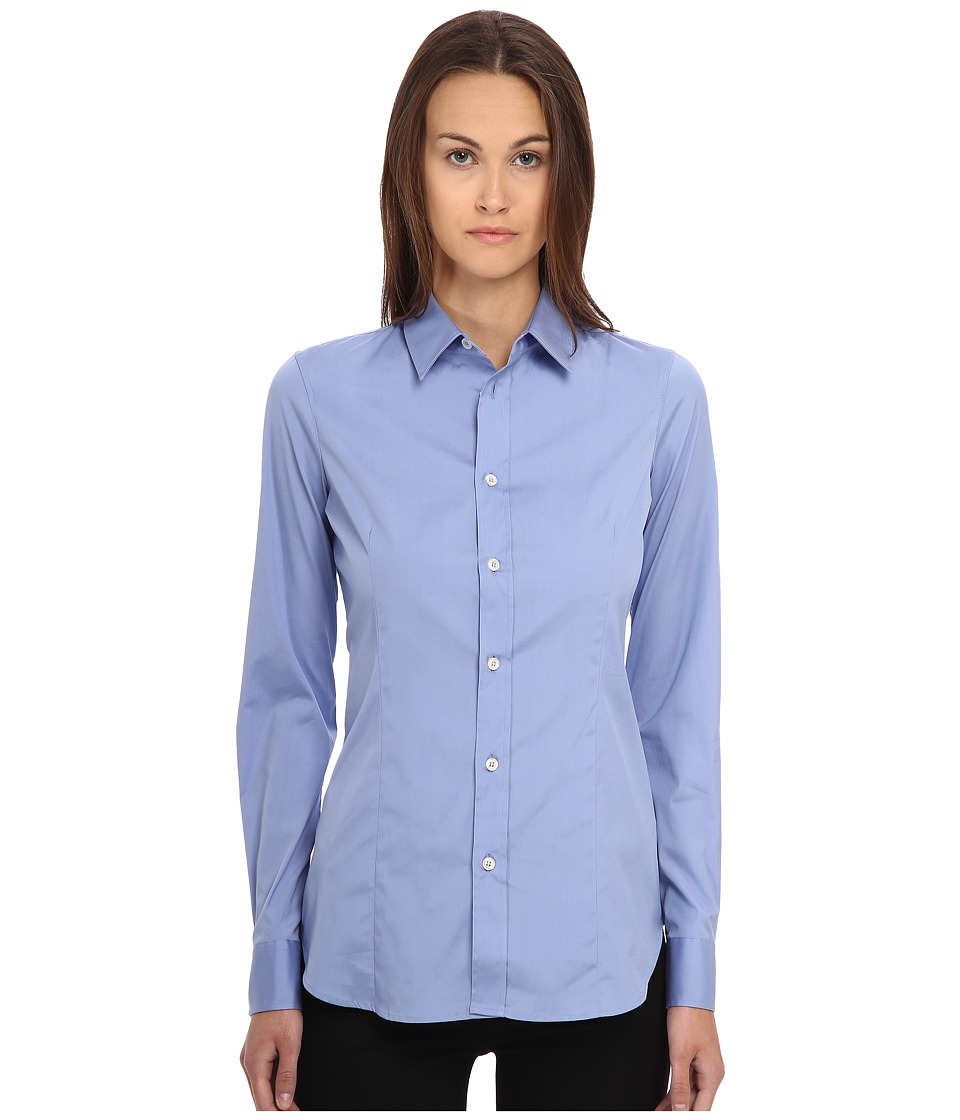 DSQUARED2 - One-Button Classic Shirt (Light Blue) Women