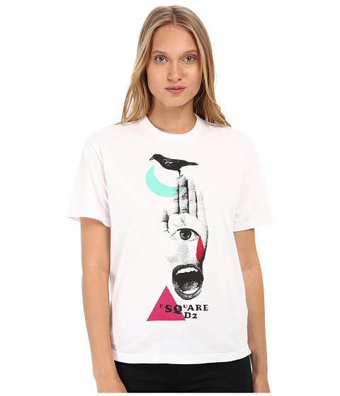 DSQUARED2 - Dlana Fit (White) Women's T Shirt