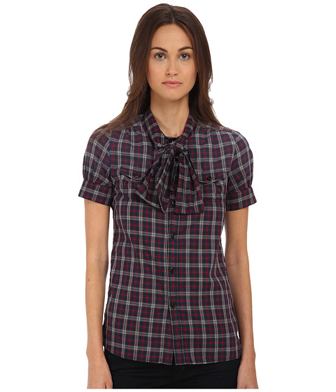 DSQUARED2 - Dominica Short Sleeves Boxy Shirt (Mix Colours) Women's Short Sleeve Button Up