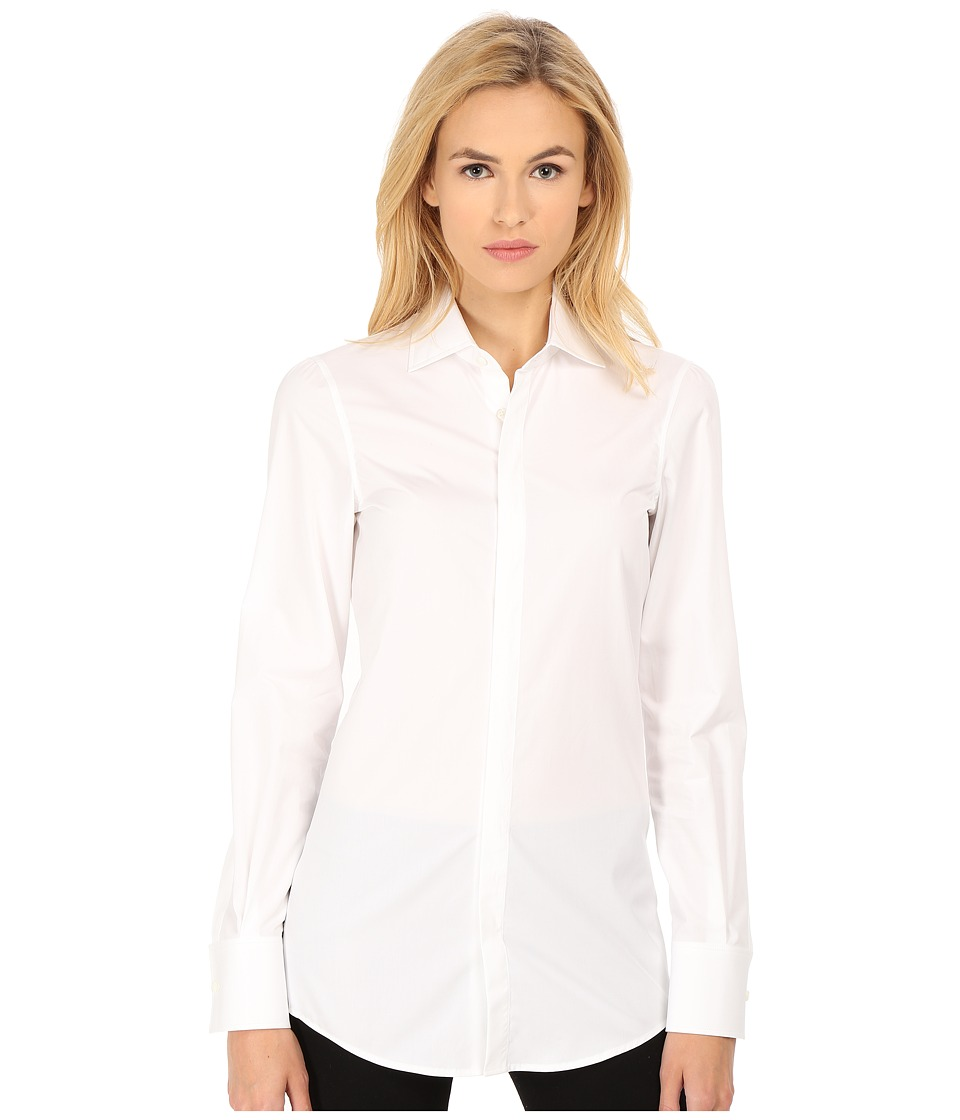 DSQUARED2 - Aura Long Sleeve Shirt (White/Mix Colours) Women's Long Sleeve Button Up