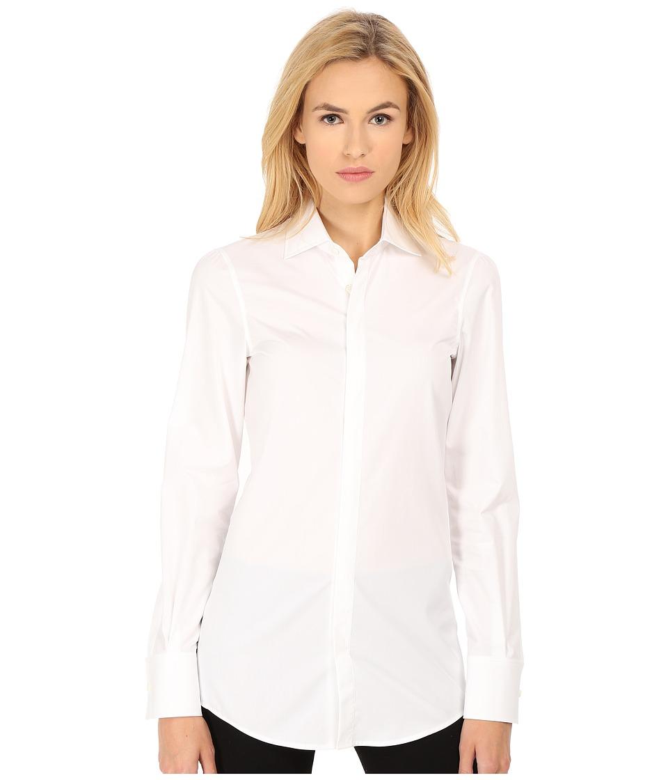 DSQUARED2 - Aura Long Sleeve Shirt (White/Mix Colours) Women's Long Sleeve Button Up