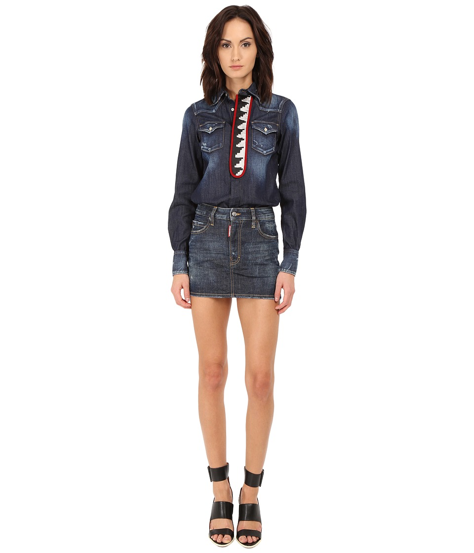 DSQUARED2 - Cheyanne Denim Mini Dress (Blue Denim) Women's Dress